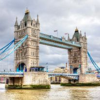 Today, the iconic Tower Bridge in London is a must-see tourist attraction. Opened in 1894, the bridge allows automobiles and pedestrians to cross the River Thames, while also allowing river traffic to pass, as the bascules can be raised to an angle of 86 degrees.