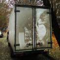 Nikita Golubev signs his artwork 'Pro Boy Nick'. (CEN)