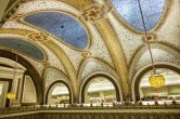 High above the makeup department on the first floor of Macy's in Chicago sits the largest Tiffany mosaic in existence. Originally commissioned for the Marshall Field's department store (acquired and renamed by Macy's in 2006), Tiffany's magnum opus is comprised of 1.6 million pieces of iridescent glass.