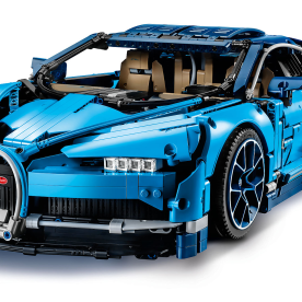 Bugatti Chiron - This mid-engined two-seater sports car is a part of the LEGO Technic series, that is filled with a ton of gears and many other complex system inside, and even comes with unique wheels and brake discs, as well as unique serial numbers.