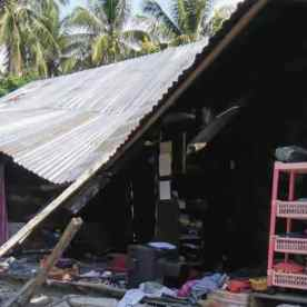 A collapsed house following an earthquake in Donggala, Central Sulawesi. Picture: AFP | Source:AFP
