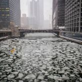 The Chicago River is full of ice, with more cold weather on the way. (Yahoo! News)