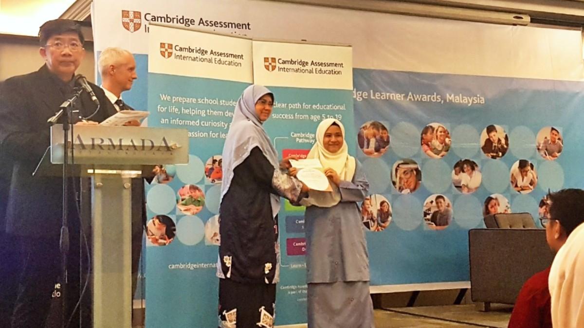 Satu-Satunya Anak Melayu Penerima Anugerah Cambridge A Level SesiIni
