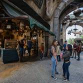 Guests visit Star Wars: Galaxy's Edge at Disneyland Park. Richard Harbaugh, Disney Parks