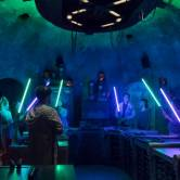 Visitors can customize and craft their own light sabers at Savi's Workshop at Star Wars: Galaxy's Edge. Joshua Sudock, Disney Parks