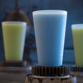 Guests will discover innovative and creative beverages from around the galaxy at Star Wars: Galaxy's Edge like blue and green milk. David Roark, Disney Parks