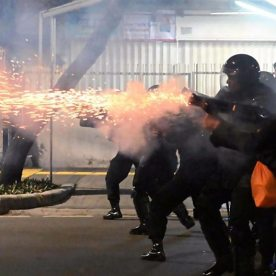Tear gas fired as Indonesia protest turns violent (Photo: BBC)