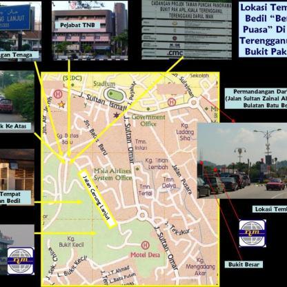 Lokasi tembakan bedil di Bukit Pak Apil, Kuala Terengganu.
