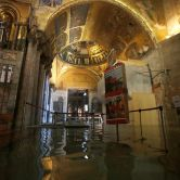 The entrance to St. Mark's Basilica is flooded on November 12.Luca Bruno/AP