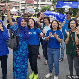 Pemuda dilihat memberi sokongan padu kepada Barisan Nasional di Tanjung Piai hari ini - Gambar ihsan Malaysiakini