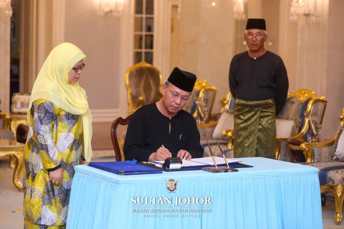 Gambar Istiadat Angkat Sumpah Dato' Hasni Sebagai MB Johor(2020)