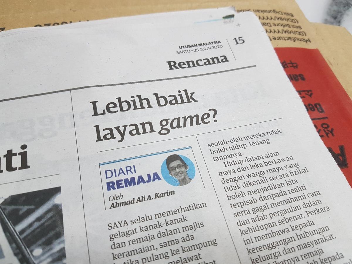 Kolum Saya: Diari Remaja @ UtusanMalaysia