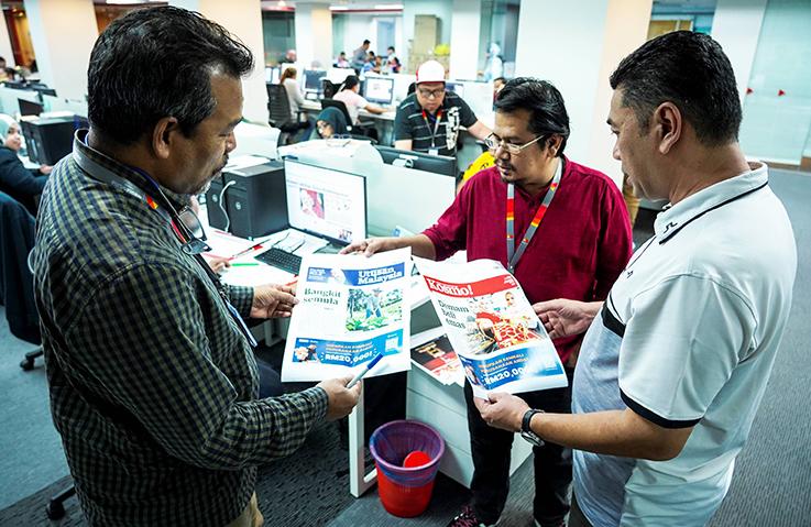 Utusan Malaysia Kembali, Agong UcapTahniah