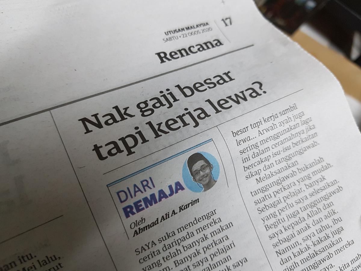 Diari Remaja @ Utusan Malaysia: Nak Gaji Besar Tapi KerjaLewa?