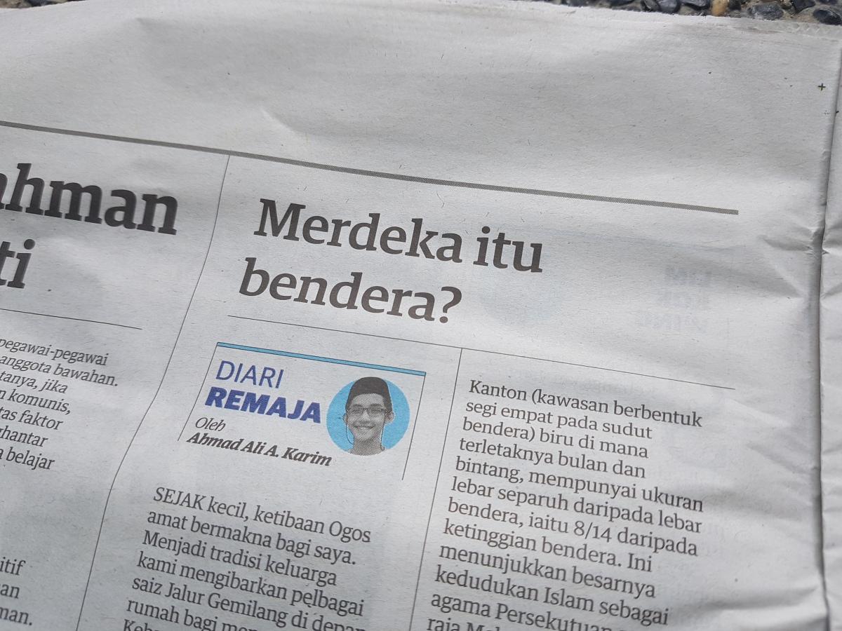 Diari Remaja @ Utusan Malaysia: Merdeka ituBendera?
