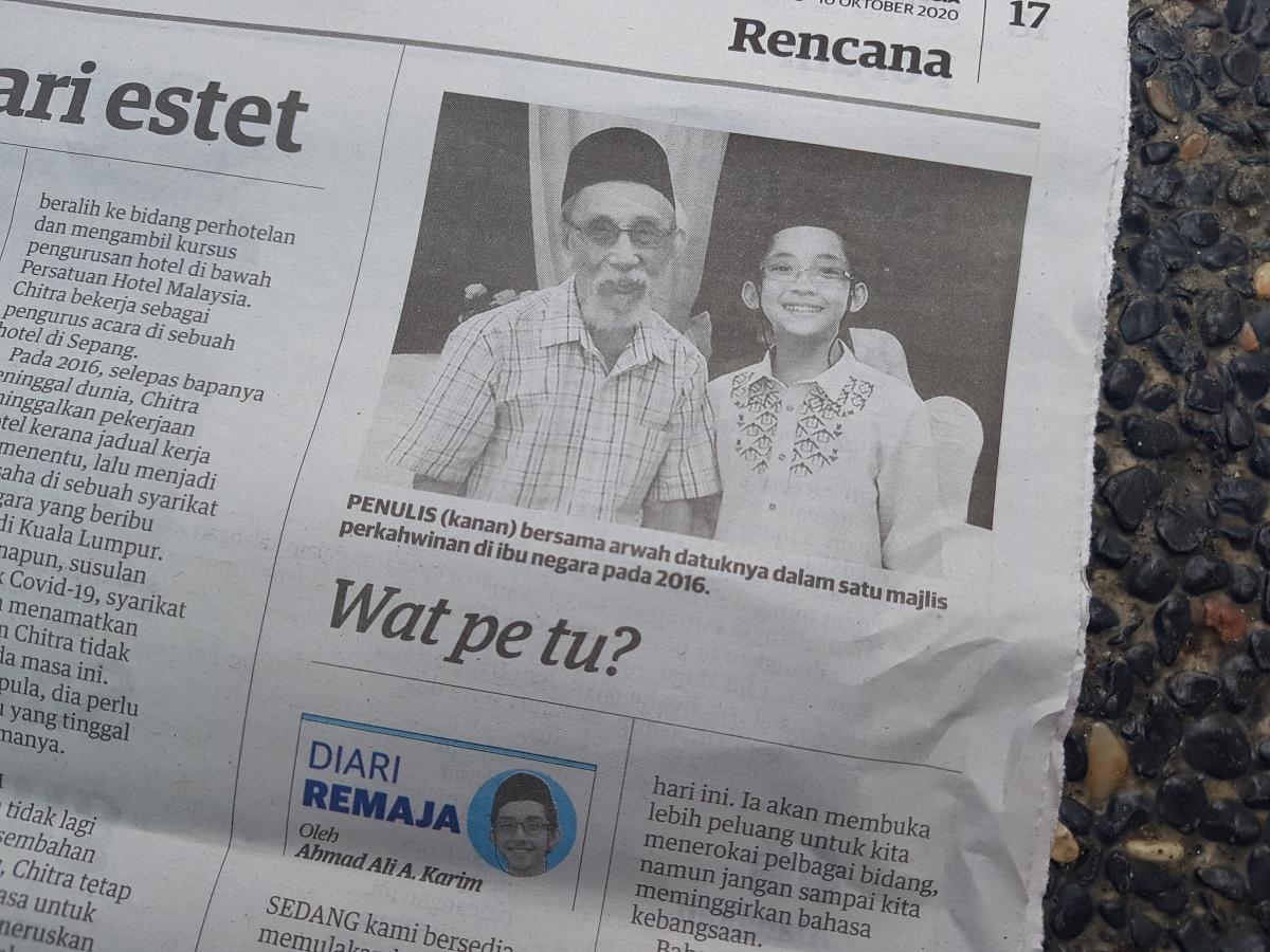 Diari Remaja @ Utusan Malaysia: Wat PeTu?