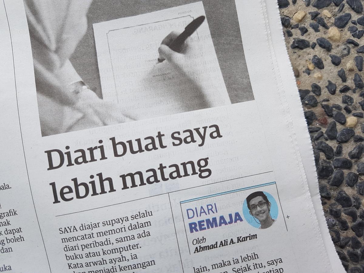 Diari Remaja @ Utusan Malaysia: Diari Buat Saya LebihMatang