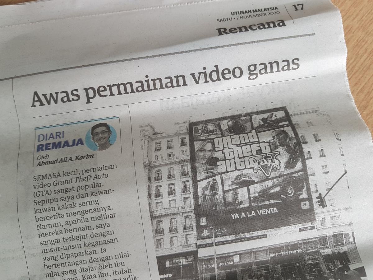 Diari Remaja @ Utusan Malaysia: Awas Permainan VideoGanas