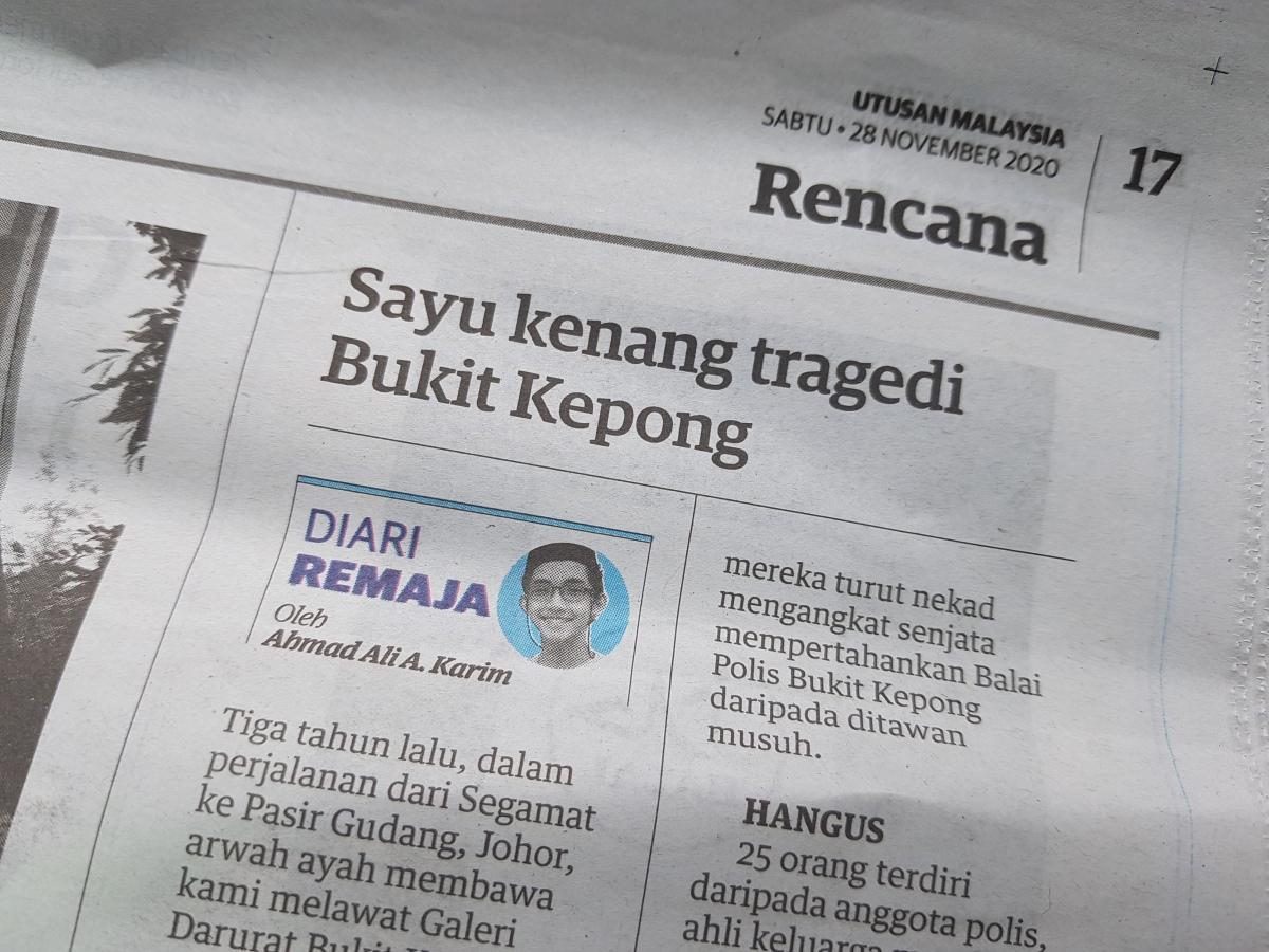 Diari Remaja @ Utusan Malaysia: Sayu Kenang Tragedi BukitKepong