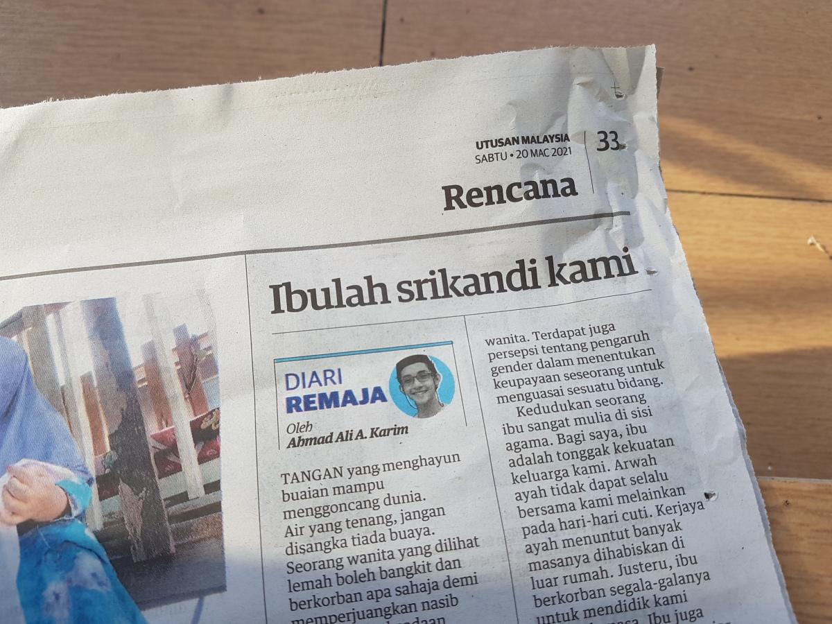 Diari Remaja @ Utusan Malaysia: Ibulah SrikandiKami