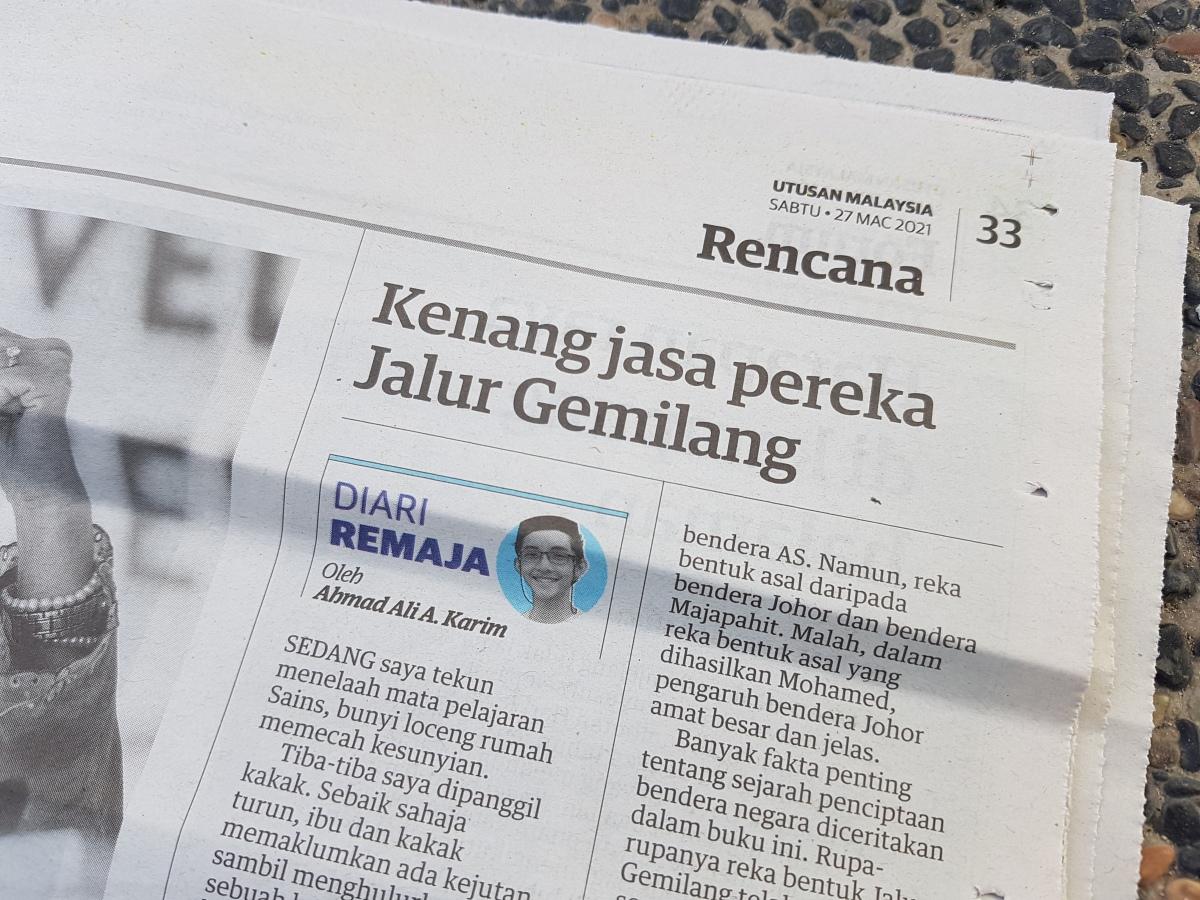 Diari Remaja @ Utusan Malaysia: Kenang Jasa Pereka JalurGemilang