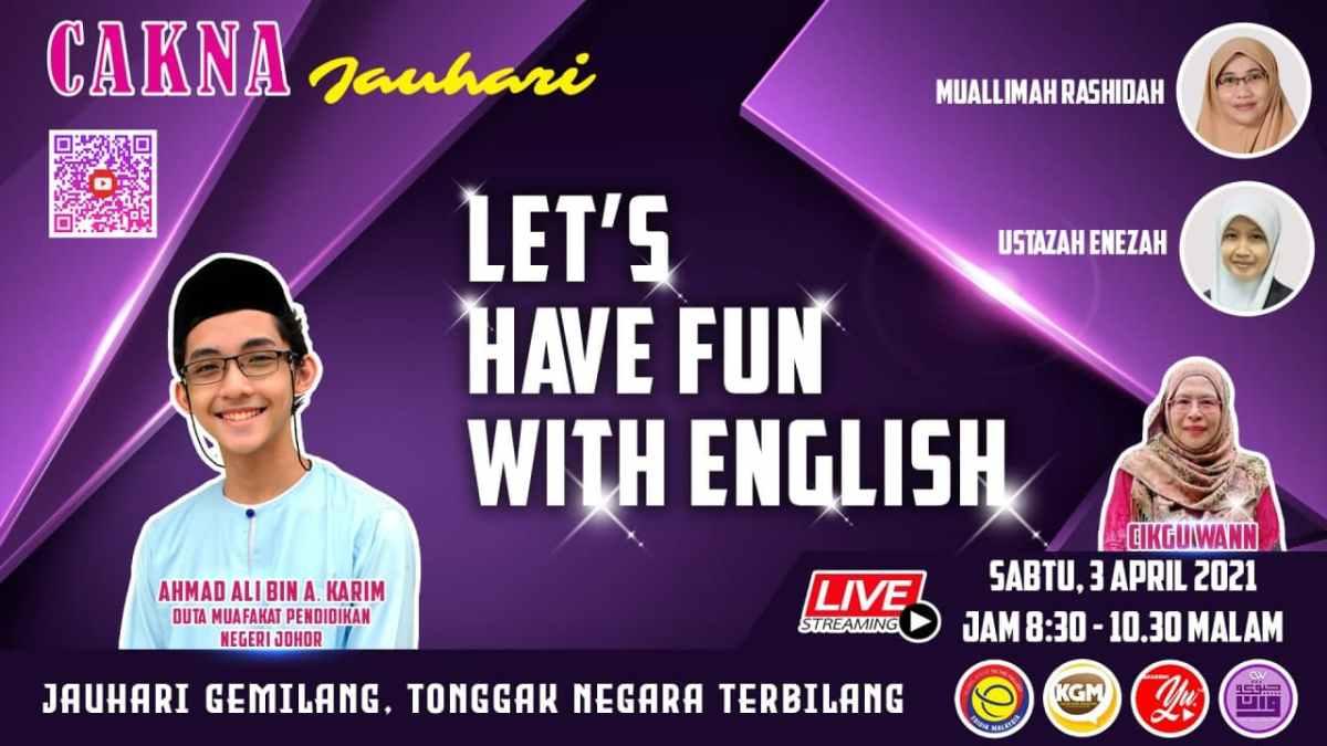 Cakna Jauhari: Let's Have Fun With English – Langsung03/04/2021