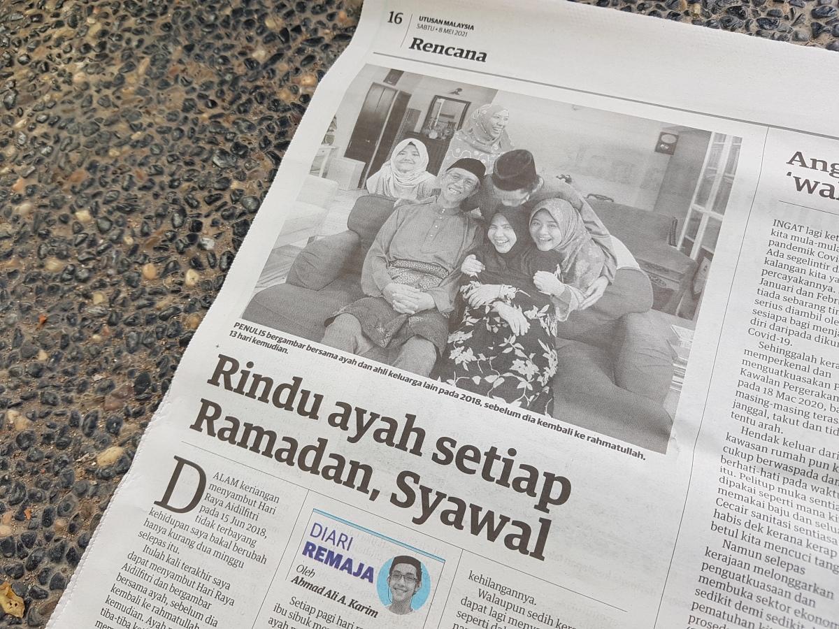 Diari Remaja @ Utusan Malaysia: Rindu Ayah Setiap Ramadan,Syawal