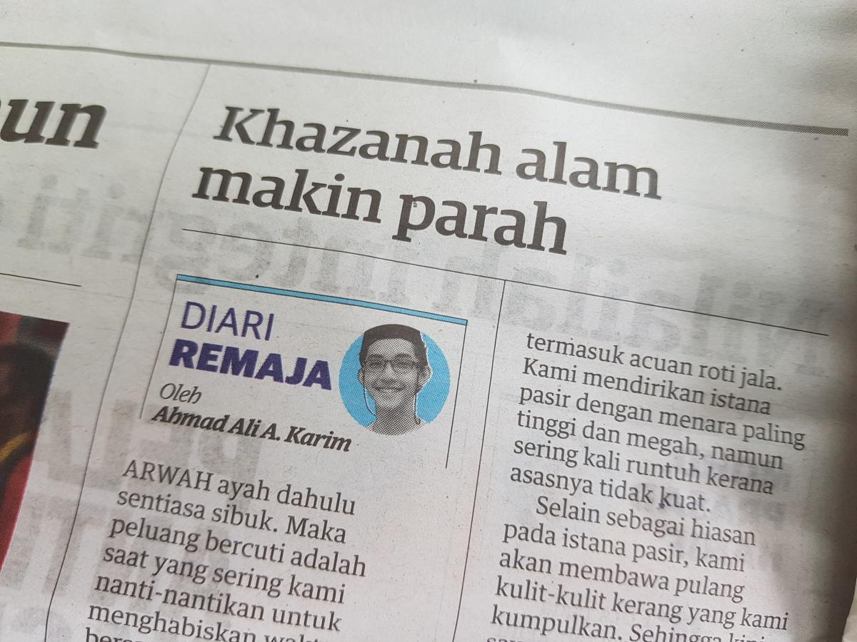 Diari Remaja @ Utusan Malaysia: Khazanah Alam MakinParah